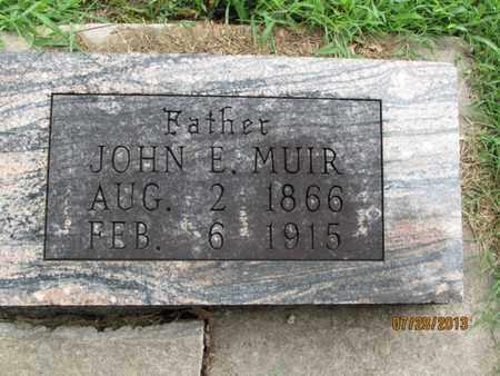 MUIR, JOHN E - Montgomery County, Kansas | JOHN E MUIR - Kansas Gravestone Photos