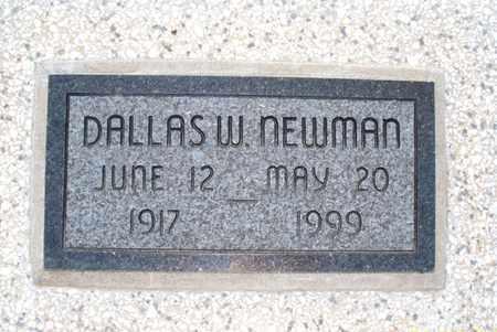 NEWMAN, DALLAS W - Montgomery County, Kansas | DALLAS W NEWMAN - Kansas Gravestone Photos
