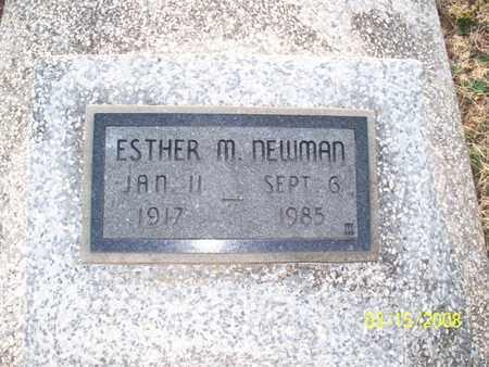 NEWMAN, ESTHER M - Montgomery County, Kansas | ESTHER M NEWMAN - Kansas Gravestone Photos