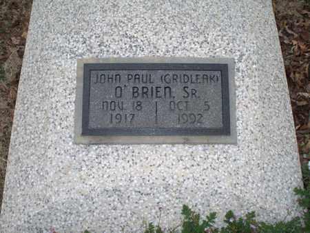 "O'BRIEN, JOHN PAUL, SR  ""GRIDLEAK"" - Montgomery County, Kansas | JOHN PAUL, SR  ""GRIDLEAK"" O'BRIEN - Kansas Gravestone Photos"