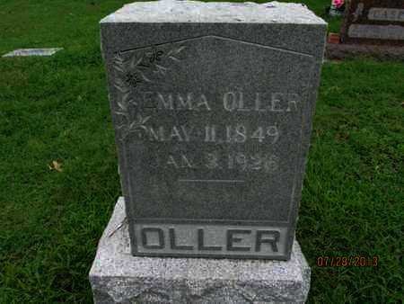 OLLER, EMMA - Montgomery County, Kansas   EMMA OLLER - Kansas Gravestone Photos