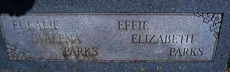 PARKS, EFFIE ELIZABETH - Montgomery County, Kansas   EFFIE ELIZABETH PARKS - Kansas Gravestone Photos