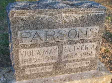 PARSONS, VIOLA MAY - Montgomery County, Kansas | VIOLA MAY PARSONS - Kansas Gravestone Photos
