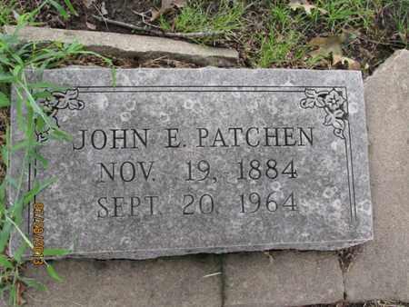 PATCHEN, JOHN E - Montgomery County, Kansas   JOHN E PATCHEN - Kansas Gravestone Photos