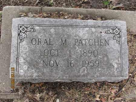 PATCHEN, ORAL M - Montgomery County, Kansas | ORAL M PATCHEN - Kansas Gravestone Photos