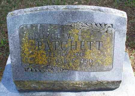 PATCHETT, GEORGE W - Montgomery County, Kansas | GEORGE W PATCHETT - Kansas Gravestone Photos