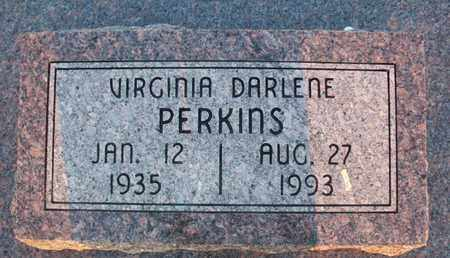 PERKINS, VIRGINIA DARLENE - Montgomery County, Kansas | VIRGINIA DARLENE PERKINS - Kansas Gravestone Photos