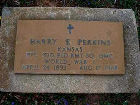 PERKINS, HARRY E  (VETERAN WWI) - Montgomery County, Kansas   HARRY E  (VETERAN WWI) PERKINS - Kansas Gravestone Photos