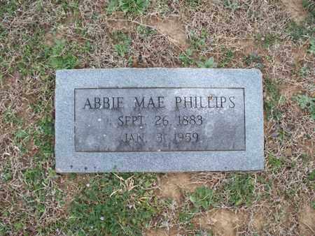 PHILLIPS, ABBIE MAE - Montgomery County, Kansas | ABBIE MAE PHILLIPS - Kansas Gravestone Photos