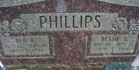 PHILLIPS, BEN E - Montgomery County, Kansas | BEN E PHILLIPS - Kansas Gravestone Photos