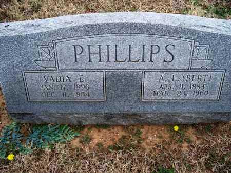 PHILLIPS, VADIA E - Montgomery County, Kansas | VADIA E PHILLIPS - Kansas Gravestone Photos