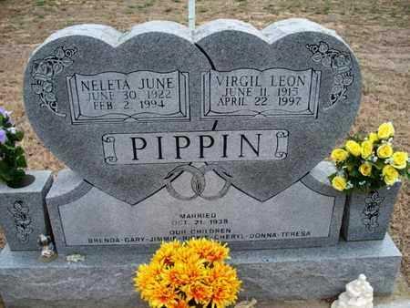 PIPPIN, NELETA JUNE - Montgomery County, Kansas | NELETA JUNE PIPPIN - Kansas Gravestone Photos