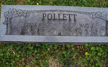 POLLETT, FRANK R. - Montgomery County, Kansas | FRANK R. POLLETT - Kansas Gravestone Photos