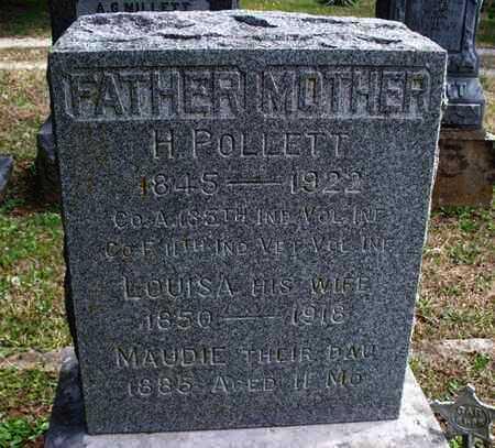 POLLETT, MAUDIE - Montgomery County, Kansas   MAUDIE POLLETT - Kansas Gravestone Photos