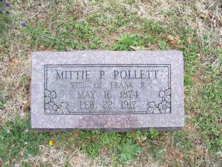 POLLETT, MITTIE P - Montgomery County, Kansas   MITTIE P POLLETT - Kansas Gravestone Photos