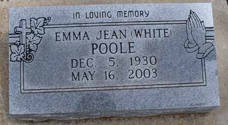 WHITE POOLE, EMMA JEAN - Montgomery County, Kansas | EMMA JEAN WHITE POOLE - Kansas Gravestone Photos