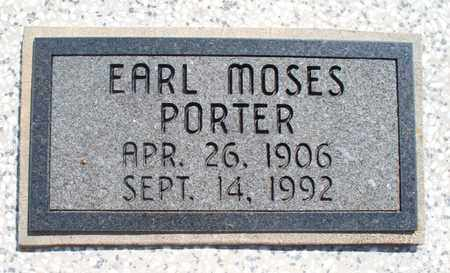 PORTER, EARL MOSES - Montgomery County, Kansas | EARL MOSES PORTER - Kansas Gravestone Photos