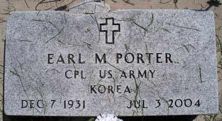PORTER, EARL M  (VETERAN KOR) - Montgomery County, Kansas   EARL M  (VETERAN KOR) PORTER - Kansas Gravestone Photos