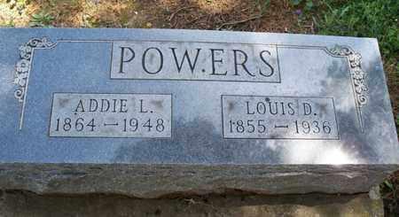 POWERS, ADDIE L - Montgomery County, Kansas | ADDIE L POWERS - Kansas Gravestone Photos
