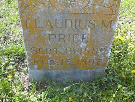 PRICE, CLAUDIUS M - Montgomery County, Kansas | CLAUDIUS M PRICE - Kansas Gravestone Photos
