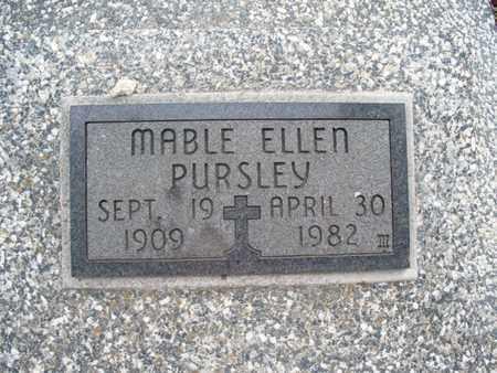 PURSLEY, MABLE ELLEN - Montgomery County, Kansas   MABLE ELLEN PURSLEY - Kansas Gravestone Photos