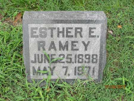 RAMEY, ESTHER E - Montgomery County, Kansas   ESTHER E RAMEY - Kansas Gravestone Photos