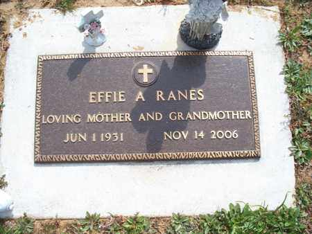 RANES, EFFIE A - Montgomery County, Kansas | EFFIE A RANES - Kansas Gravestone Photos