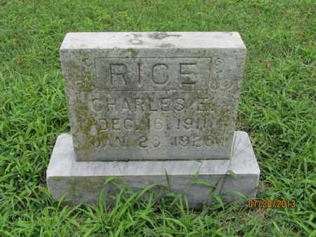 RICE, CHARLES E - Montgomery County, Kansas | CHARLES E RICE - Kansas Gravestone Photos
