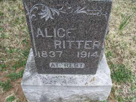RITTER, ALICE - Montgomery County, Kansas   ALICE RITTER - Kansas Gravestone Photos