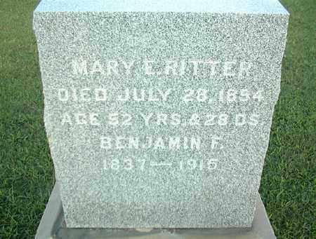 RITTER, MARY E - Montgomery County, Kansas | MARY E RITTER - Kansas Gravestone Photos