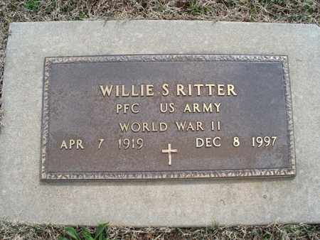 RITTER, WILLIE S  (VETERAN WWII) - Montgomery County, Kansas | WILLIE S  (VETERAN WWII) RITTER - Kansas Gravestone Photos