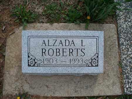 ROBERTS, ALZADA L - Montgomery County, Kansas   ALZADA L ROBERTS - Kansas Gravestone Photos