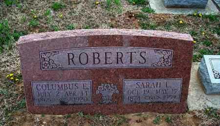 ROBERTS, SARAH L - Montgomery County, Kansas | SARAH L ROBERTS - Kansas Gravestone Photos