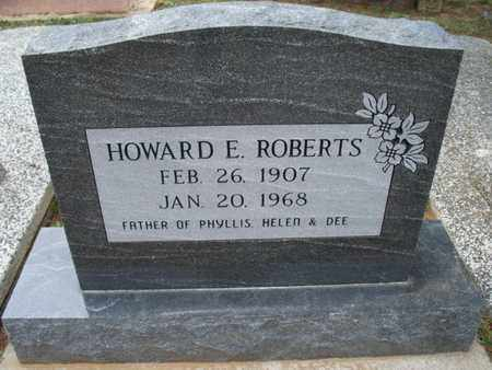 ROBERTS, HOWARD E - Montgomery County, Kansas | HOWARD E ROBERTS - Kansas Gravestone Photos