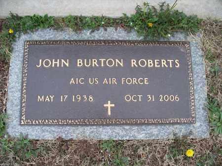 ROBERTS, JOHN BURTON  (VETERAN) - Montgomery County, Kansas | JOHN BURTON  (VETERAN) ROBERTS - Kansas Gravestone Photos