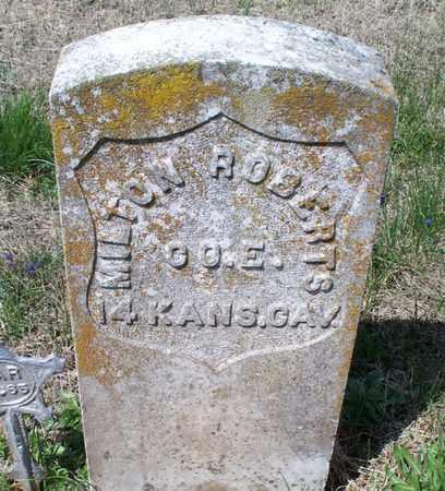 ROBERTS, MILTON  (VETERAN UNION) - Montgomery County, Kansas | MILTON  (VETERAN UNION) ROBERTS - Kansas Gravestone Photos