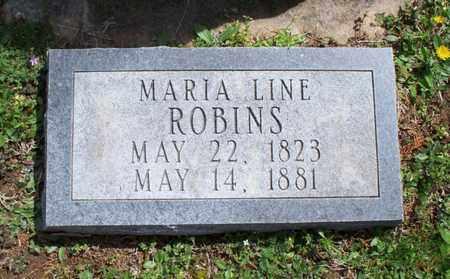 LINE ROBINS, MARIA - Montgomery County, Kansas | MARIA LINE ROBINS - Kansas Gravestone Photos