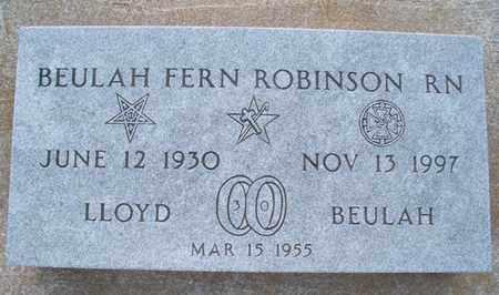 LLOYD ROBINSON, BEULAH FERN, RN - Montgomery County, Kansas | BEULAH FERN, RN LLOYD ROBINSON - Kansas Gravestone Photos