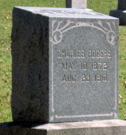 ROGERS, CHARLES - Montgomery County, Kansas | CHARLES ROGERS - Kansas Gravestone Photos