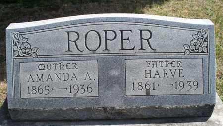 ROPER, AMANDA A - Montgomery County, Kansas   AMANDA A ROPER - Kansas Gravestone Photos