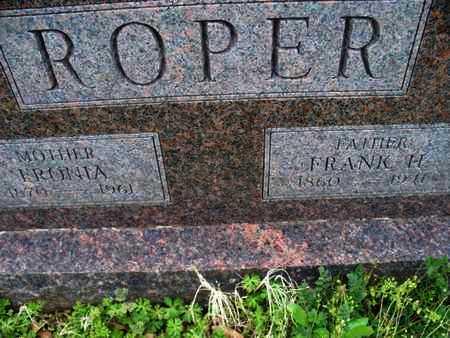 ROPER, FRANK H - Montgomery County, Kansas | FRANK H ROPER - Kansas Gravestone Photos