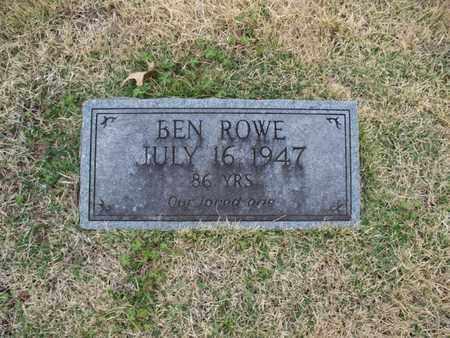 ROWE, BEN - Montgomery County, Kansas | BEN ROWE - Kansas Gravestone Photos