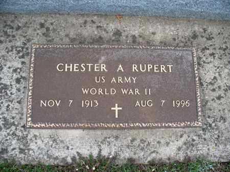 RUPERT, CHESTER A  (VETERAN WWII) - Montgomery County, Kansas   CHESTER A  (VETERAN WWII) RUPERT - Kansas Gravestone Photos