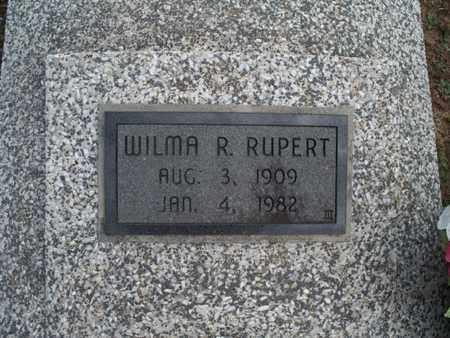 RUPERT, WILMA R - Montgomery County, Kansas | WILMA R RUPERT - Kansas Gravestone Photos