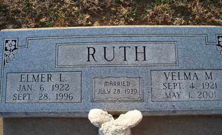 RUTH, ELMER L - Montgomery County, Kansas | ELMER L RUTH - Kansas Gravestone Photos