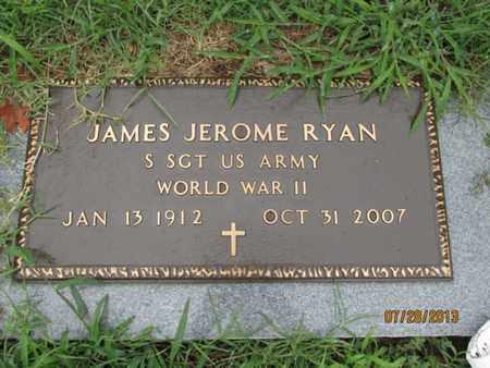 RYAN, JAMES JEROME   (VETERAN WWII) - Montgomery County, Kansas | JAMES JEROME   (VETERAN WWII) RYAN - Kansas Gravestone Photos