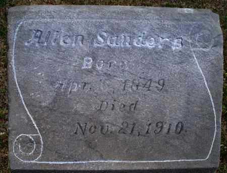 SANDERS, ALLEN - Montgomery County, Kansas | ALLEN SANDERS - Kansas Gravestone Photos