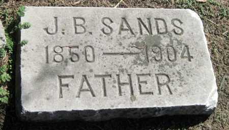 SANDS, J B - Montgomery County, Kansas | J B SANDS - Kansas Gravestone Photos