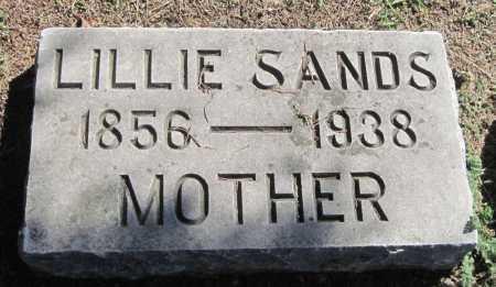 SANDS, LILLIE - Montgomery County, Kansas   LILLIE SANDS - Kansas Gravestone Photos
