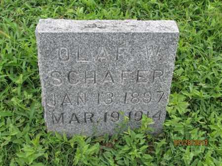 SCHAFER, OLAF W - Montgomery County, Kansas | OLAF W SCHAFER - Kansas Gravestone Photos